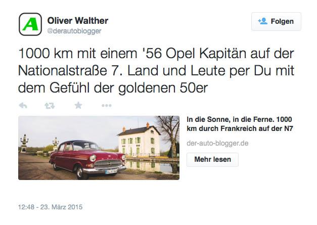 tweet von Oliver Walther Buch